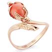 Золотое кольцо с кораллом SL-0245-337 весом 3.37 г  стоимостью 25275 р.