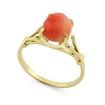 Золотое кольцо с натуральным кораллом SL-0265-234 весом 2.35 г  стоимостью 12500 р.