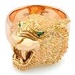 Мужской перстень Тигр из золота SLY-K002 весом 35 г  стоимостью 179000 р.