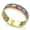 Серебряное кольцо с эмалью и позолотой «Cпаси и сохрани» KPSZE002-7 весом 4.61 г  стоимостью 3460 р.