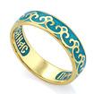 Серебряное кольцо с эмалью «Молитва к Богородице» KPSZE007-1 весом 4.53 г  стоимостью 2650 р.