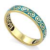 Серебряное кольцо «Спаси и сохрани» с эмалью православное KPSZE005-3 весом 2.55 г  стоимостью 2100 р.