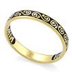 Серебряное кольцо «Спаси и сохрани» с эмалью православное KPSZE005-5 весом 2.55 г  стоимостью 2100 р.
