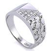 Золотое кольцо мужское с бриллиантами SLV-K455 весом 6.62 г  стоимостью 88200 р.