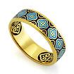 Серебряное кольцо с эмалью «Господи, спаси и сохрани мя» KPSZE001-1 весом 4.61 г  стоимостью 3460 р.