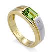 Золотое кольцо с хризолитом и бриллиантом SLR-160-455 весом 4.81 г  стоимостью 30700 р.