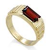 Золотое кольцо мужское с гранатом SL-6190-673 весом 6.73 г  стоимостью 34580 р.