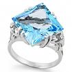 Серебряное кольцо с крупным топазом SL-2143-690 весом 6.9 г  стоимостью 7800 р.