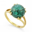 Кольцо с бирюзой в желтом золоте SL-2295-392 весом 3.92 г  стоимостью 19012 р.