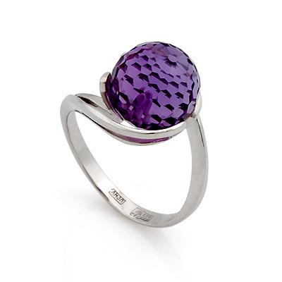 Кольцо с аметистом шар 3.97 г SL-2836-397