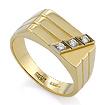 Золотое кольцо мужское с бриллиантами SLV-K139 весом 7.21 г  стоимостью 54040 р.