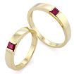 Золотое кольцо обручальные с рубином SLZ-13801-698 весом 5.8 г  стоимостью 45000 р.