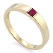 Золотое кольцо с рубином квадрат SLZ-13801-362 весом 3.62 г  стоимостью 22500 р.